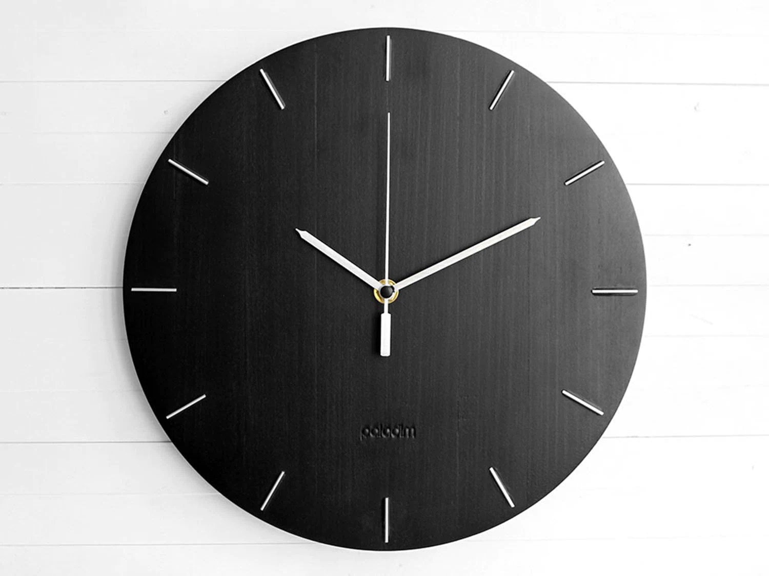 Black Wall Clock Industrial Black Wall Clock The Oval Home Gift Clock Unusual Wall Clock Component Clock Wood Clock Abstract Style Industrial Decor