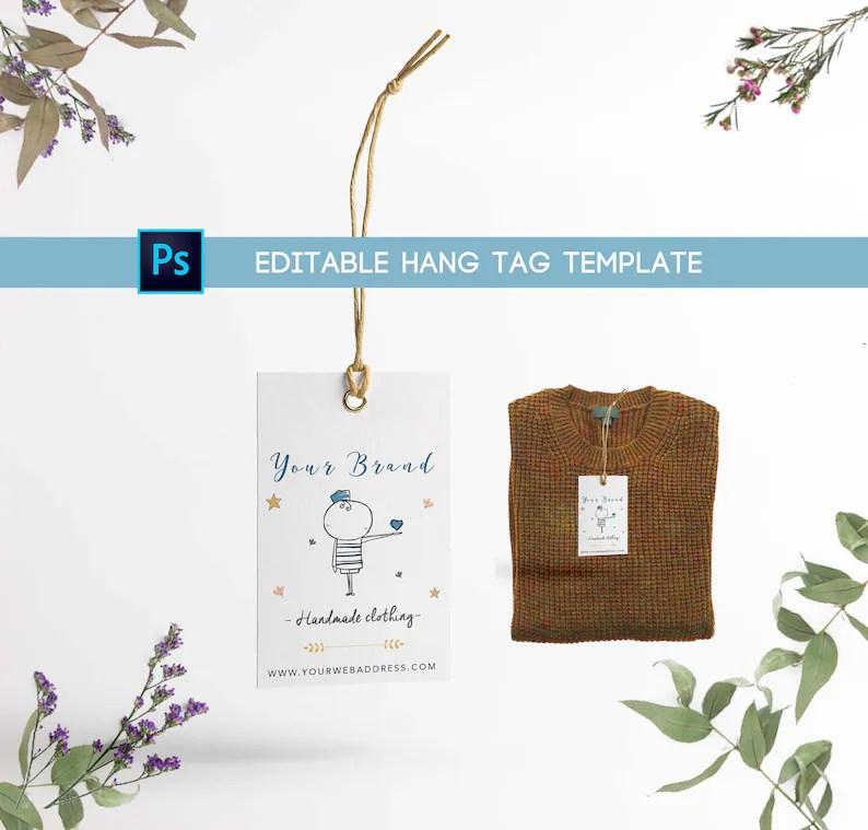 Hang tag template clothing label Printable hang tags Etsy
