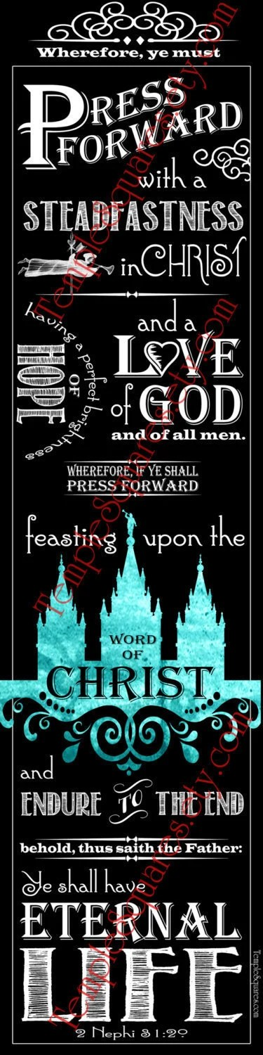 PRINTABLES Printable Scripture Bookmarks LDS YW Young Women Relief