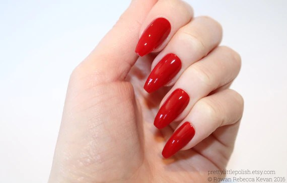 Red Coffin Nails Wwwimagenesmycom