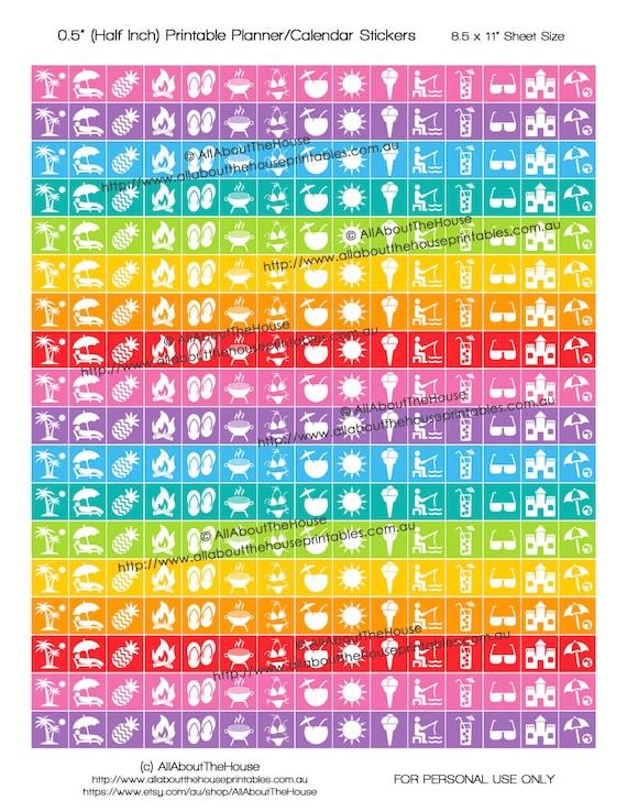 Summer Planner stickers Printable 1/2\