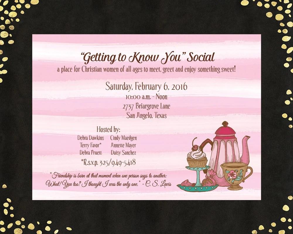 Coffee Tea Invitations Ladies Coffee Tea Invitations Tea Party Etsy