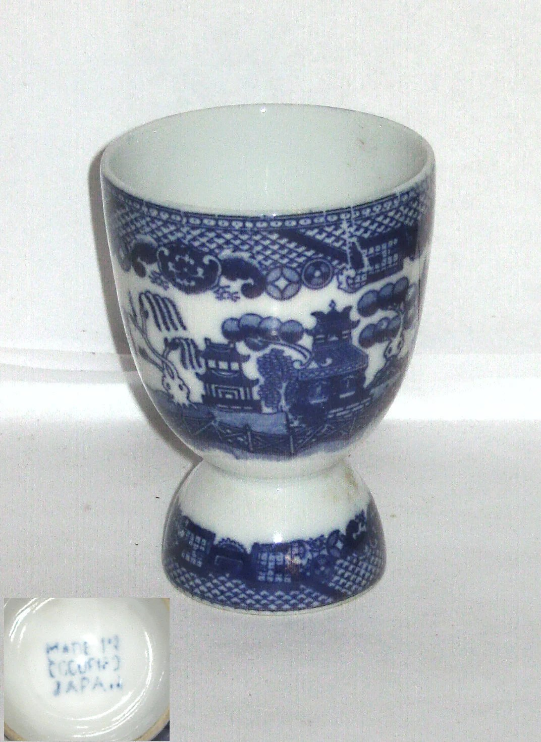 Arte Murano Icet Elephant Occupied Japan Small Serving Bowl Or Tea Cup Blue White Delft Porcelain