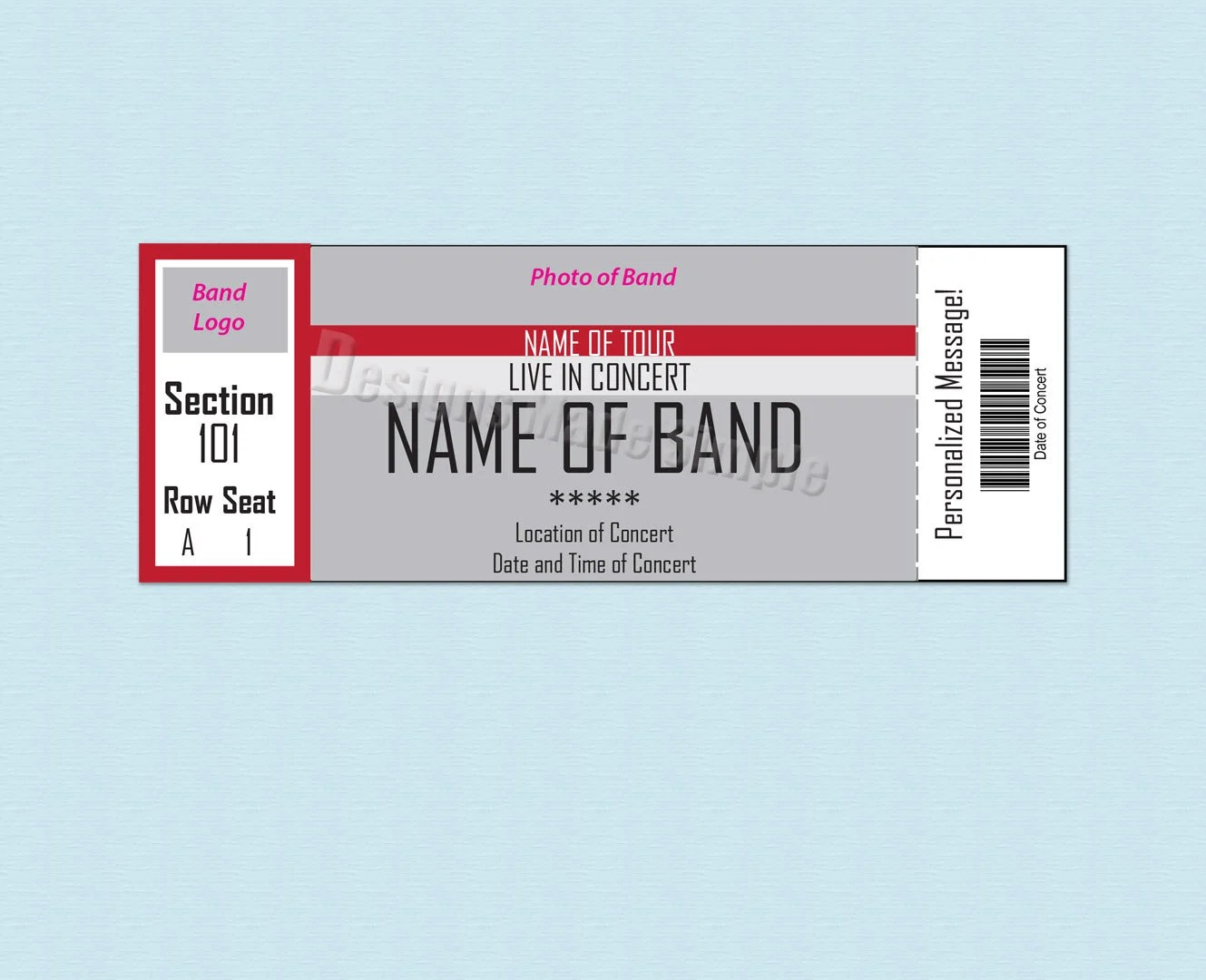 Custom Concert Sporting Event or Broadway Show Ticket Etsy