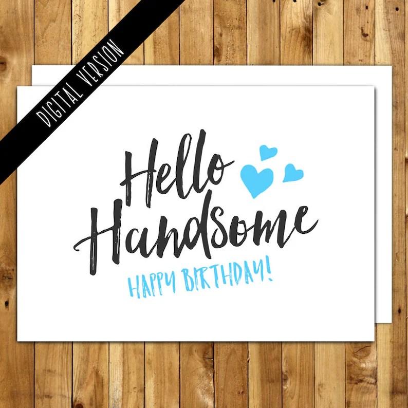 Printable Birthday Card For Him Happy birthday card Etsy