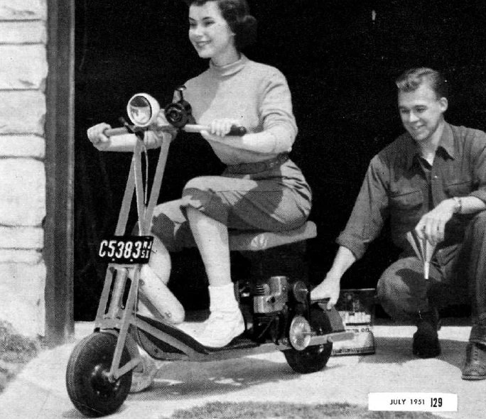 Vintage Gas Scooter Plans Etsy