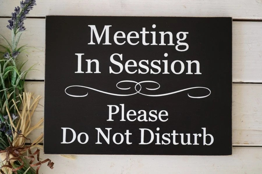 Meeting In Session Please Do Not Disturb/Welcome Please Etsy