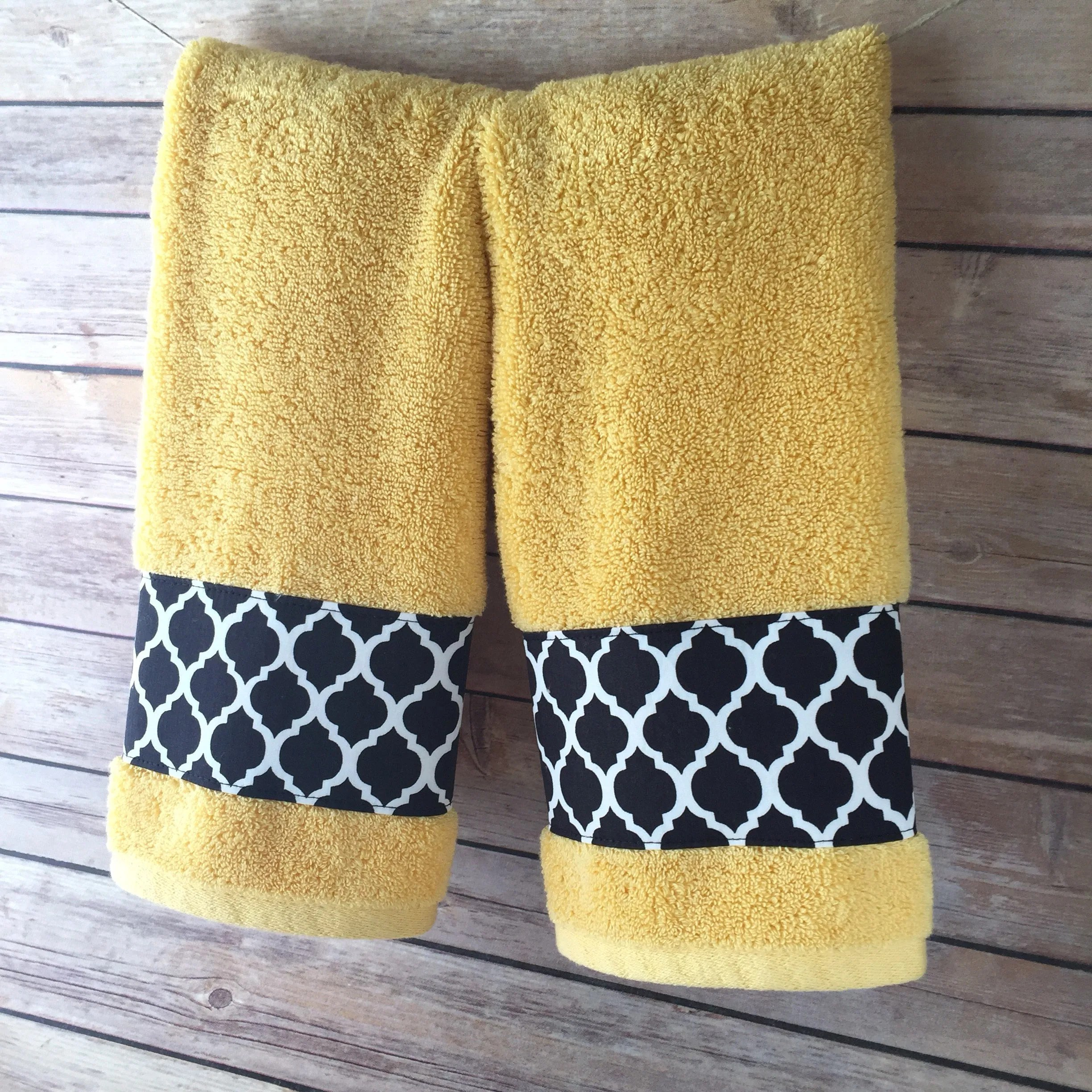 Yellow Towels Yellow Towels Hand Towels Yellow And Black Bathroom Yellow