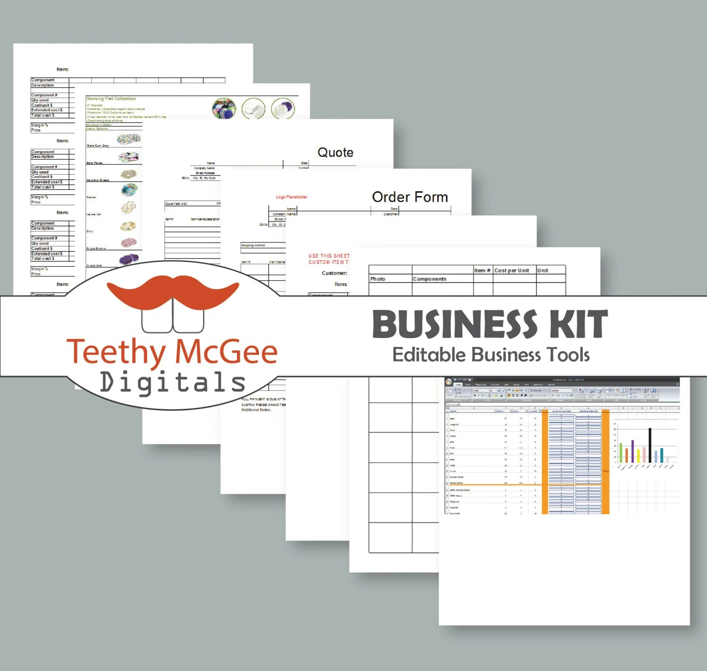 Basic Seller\u0027s Business Kit Editable 7 Documents Etsy