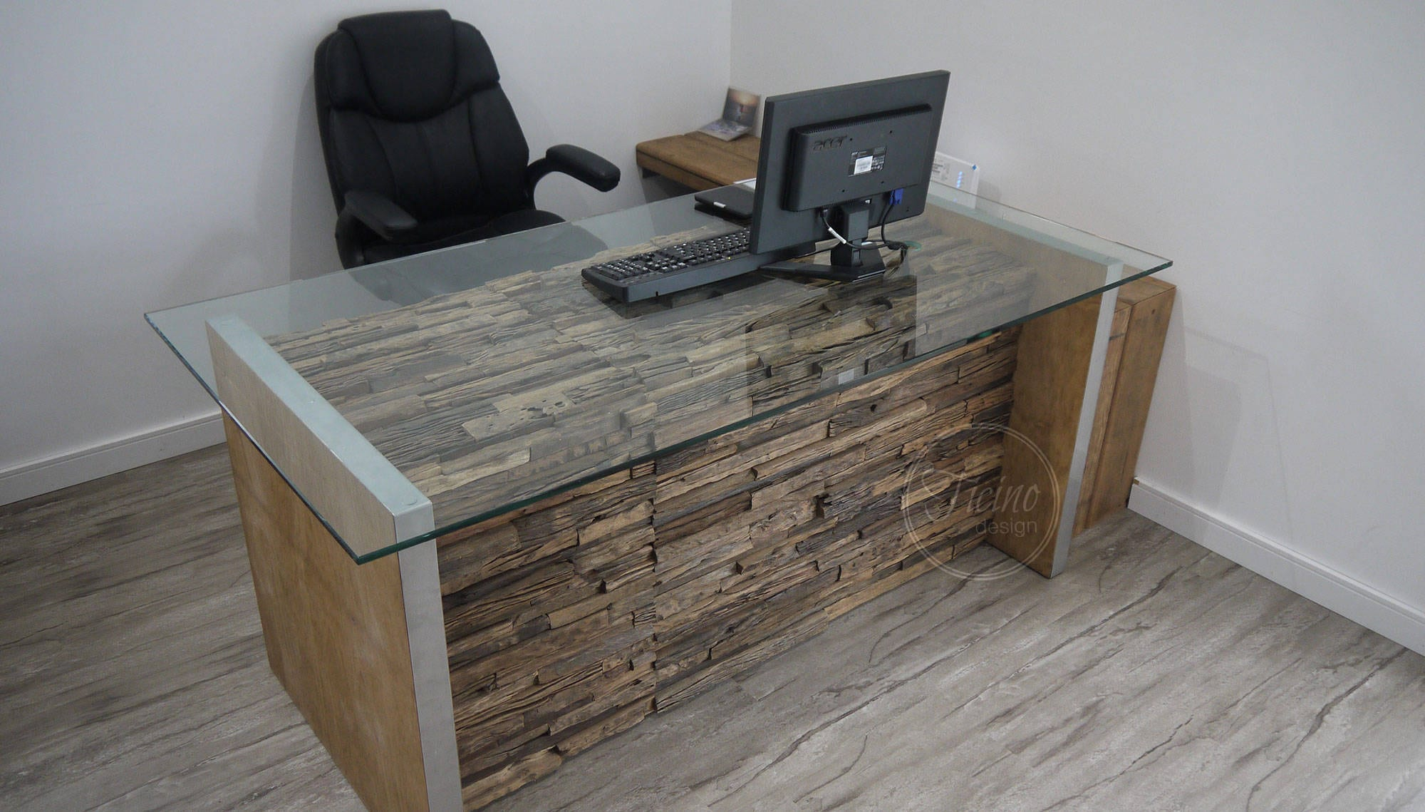 Bureau Rustique Bureau Informatique Moderne Rustique Desk Glass