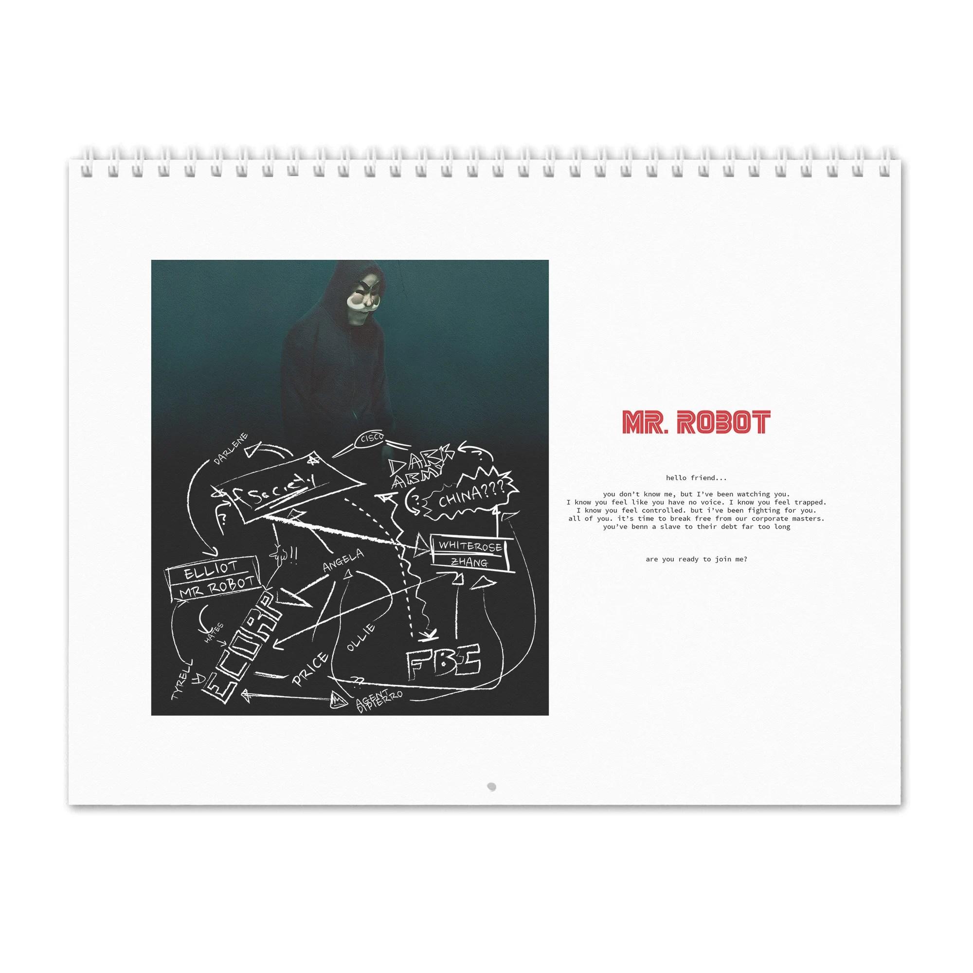 MRROBOT / Season2 - 2019 Wall Calendar
