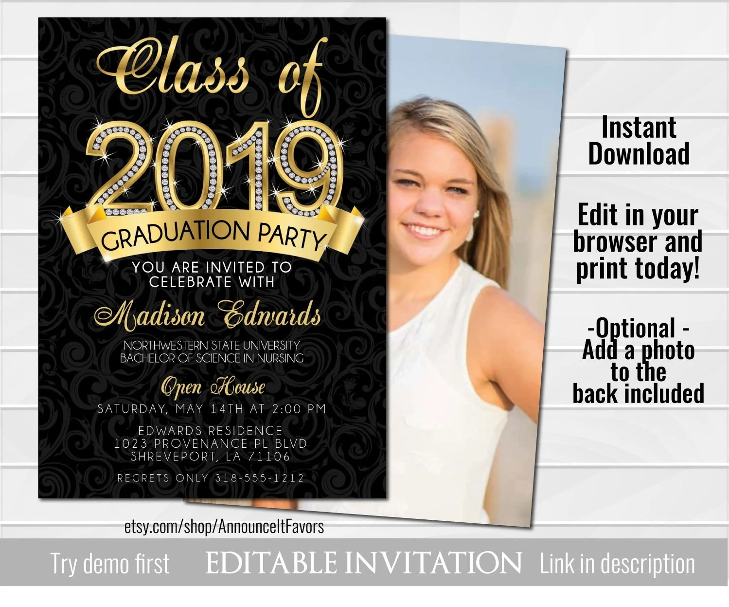 College Graduation Invitations, College Graduation Announcement