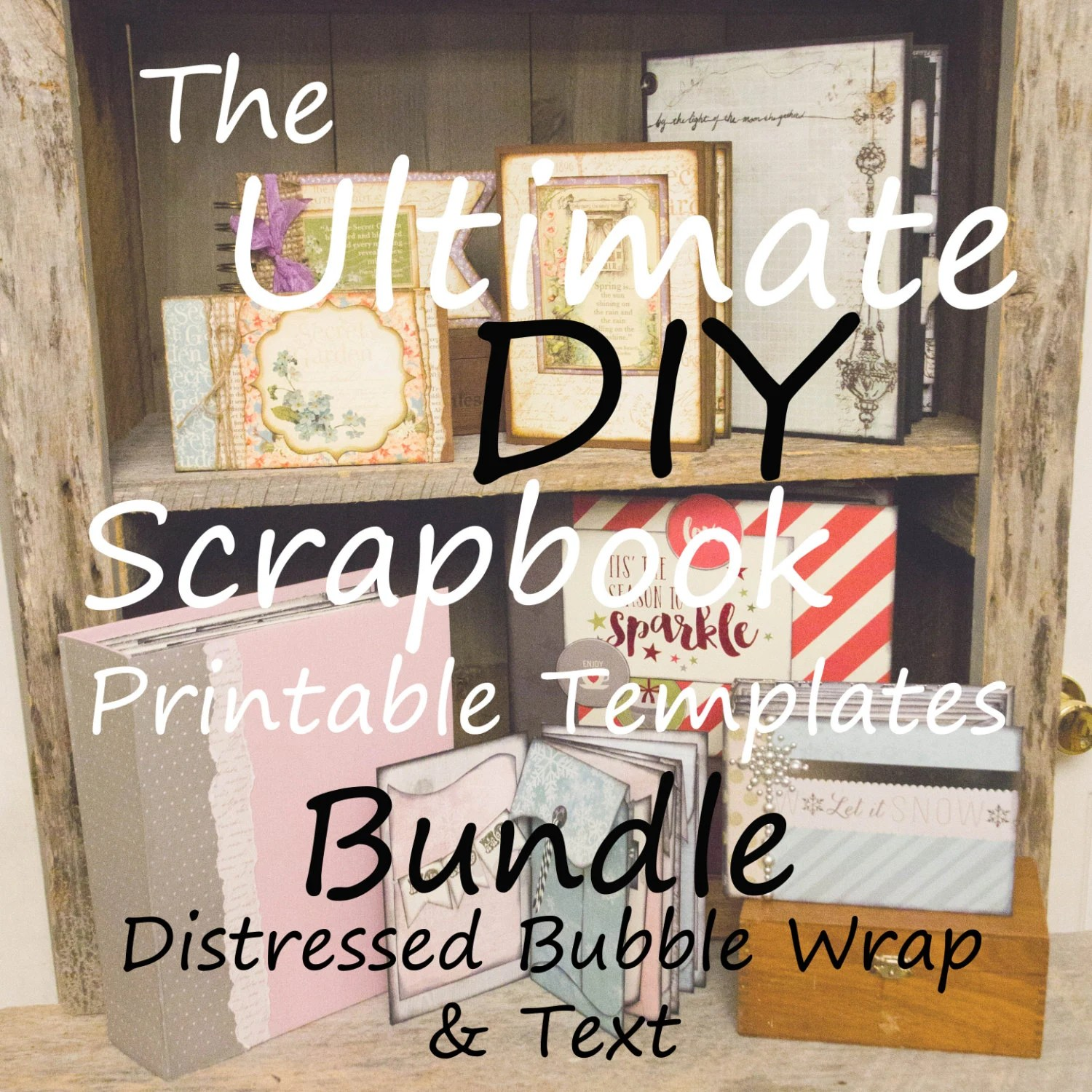 The Ultimate DIY Scrapbook Printable Templates Bubble Wrap Etsy