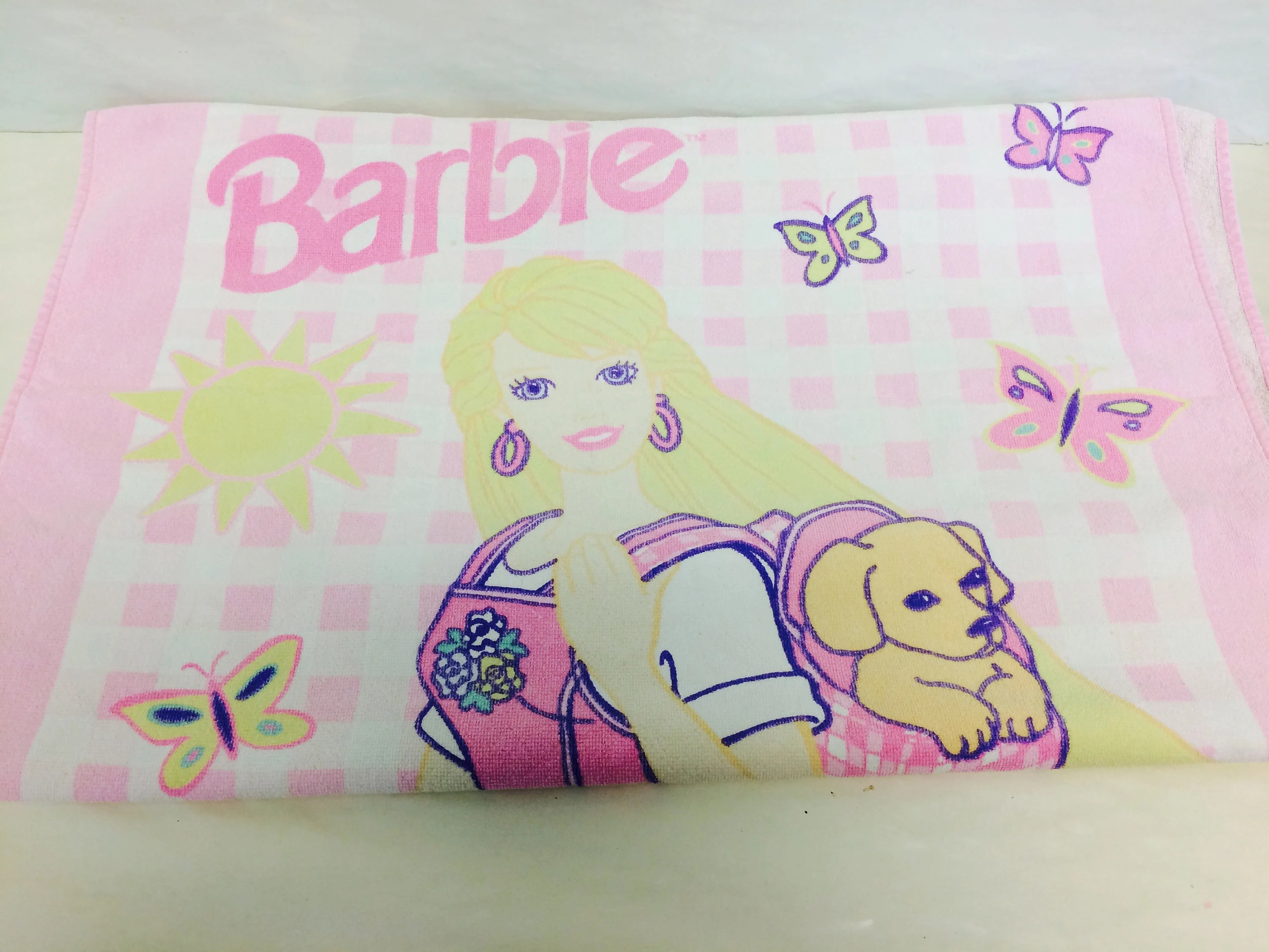 Barbie Badezimmer Vintage Barbie Towel Barbie And Her Puppy Dog 1990s Mattel Bath Towel Beach Towel 1996 Barbie Doll Barbie Collector 1990s Girl Toys
