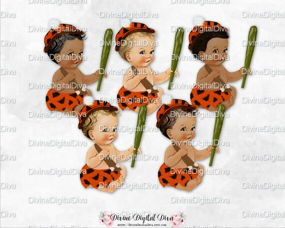 Sitting Baby Boy Bam Orange Black Animal Print Loincloth Etsy