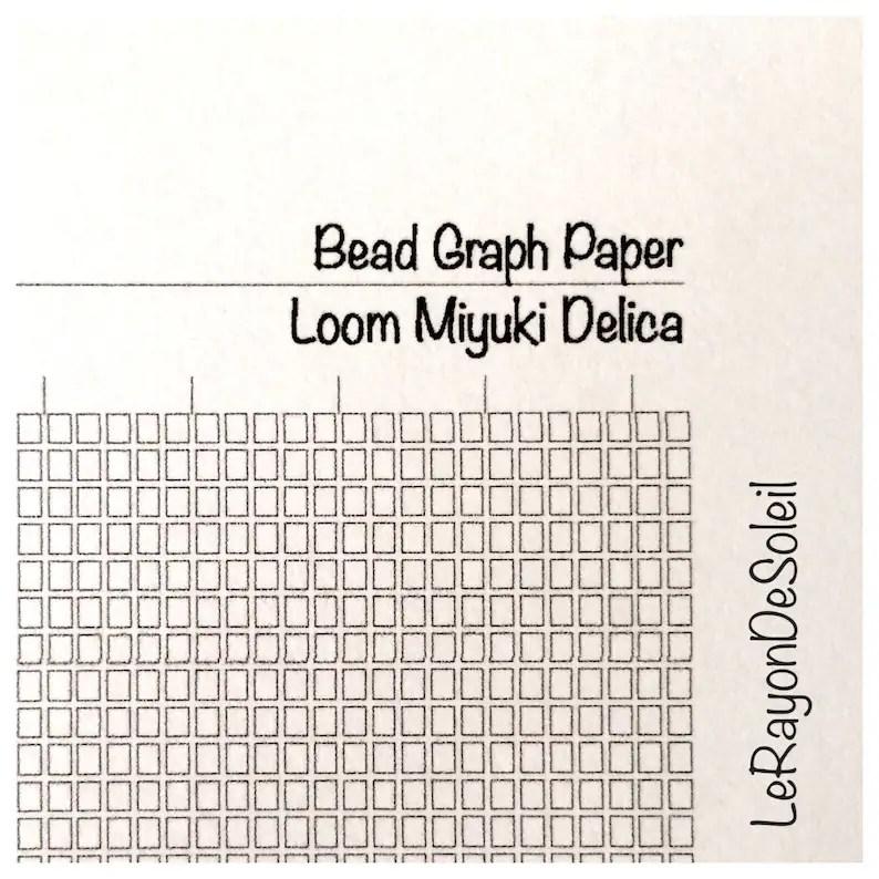 Graph paper loom Miyuki Delica beads DIY jewelry design Etsy