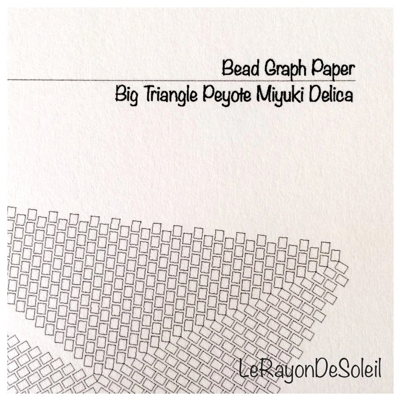 Triangular template Miyuki seed beads Delica bead graph paper Etsy