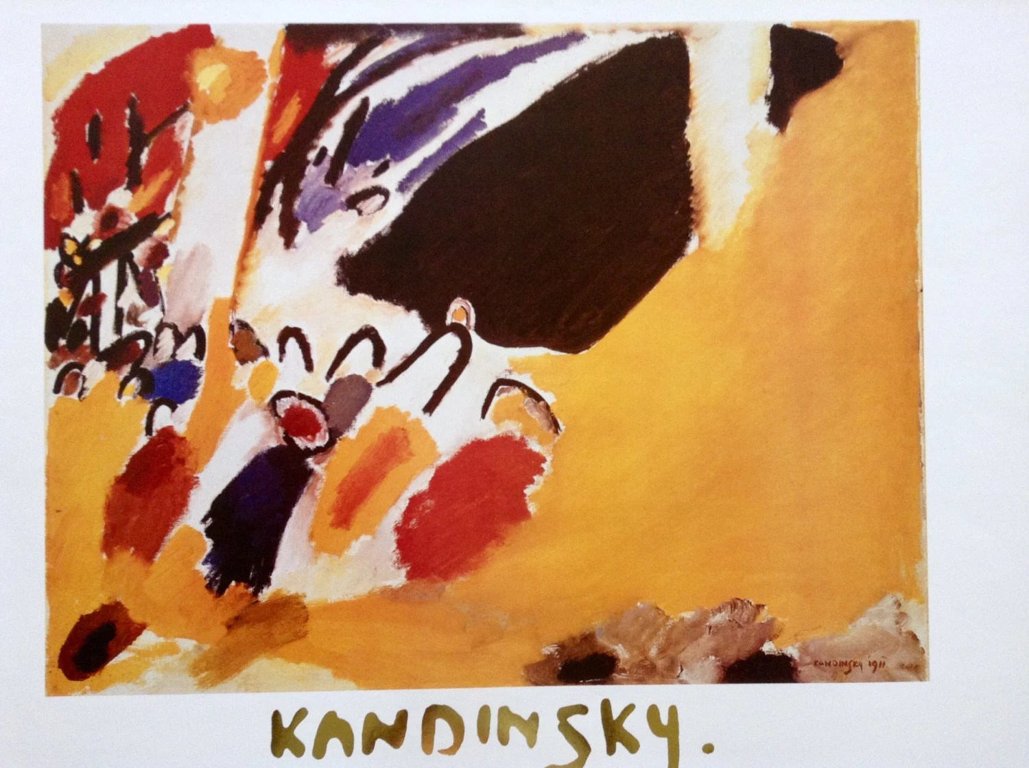 Della Pittura On Painting Kandinsky Print Impression 111 Concert Created 1911 Serie Maestri Della Pittura N 158 Abstract Art Vintage Print Poster