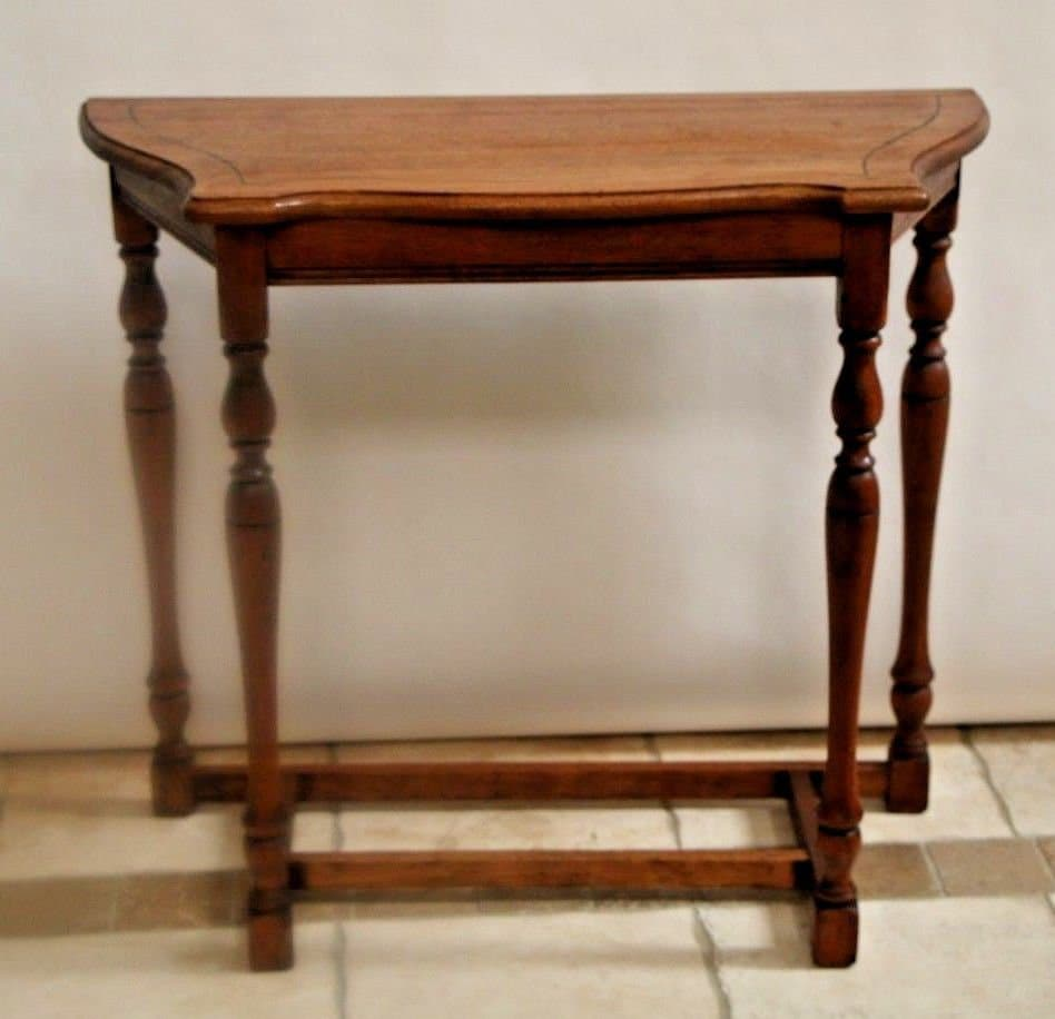 Vintage Hall Table Vintage Sofa Entry Side Hall Table Colonial Farmhouse Solid Hardwood Oak Nationwide Shipping Available Please Call For Best Rates