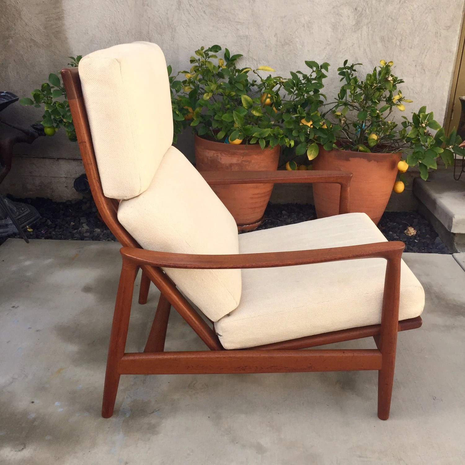 Swedish Mid Century Furniture Folke Ohlsson For Dux Swedish Mid Century Teak High Back Lounge Chair Danish Modern