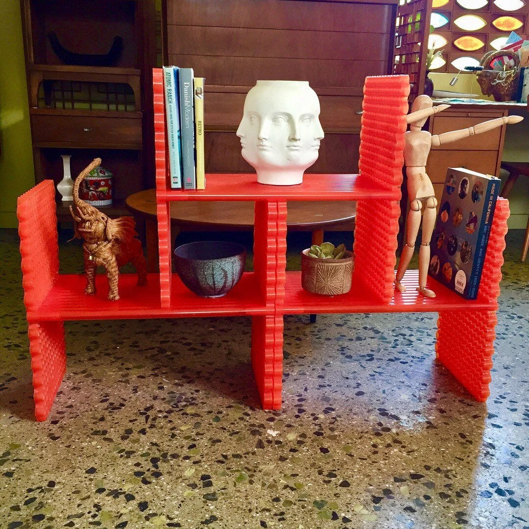 Mobili Per Ufficio Kartell Discontinued Kartell Modular Bookshelf In Tangerine Orange Model 8050 In Original Box
