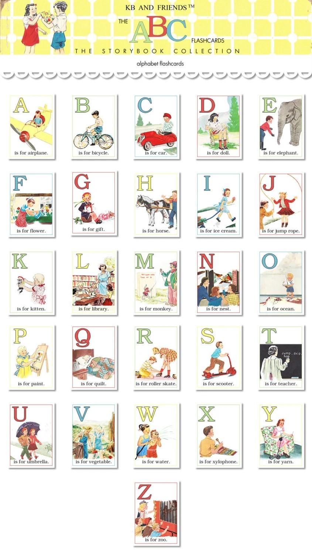 Digital ABC flashcards / alphabet flash cards/ 5 by Etsy
