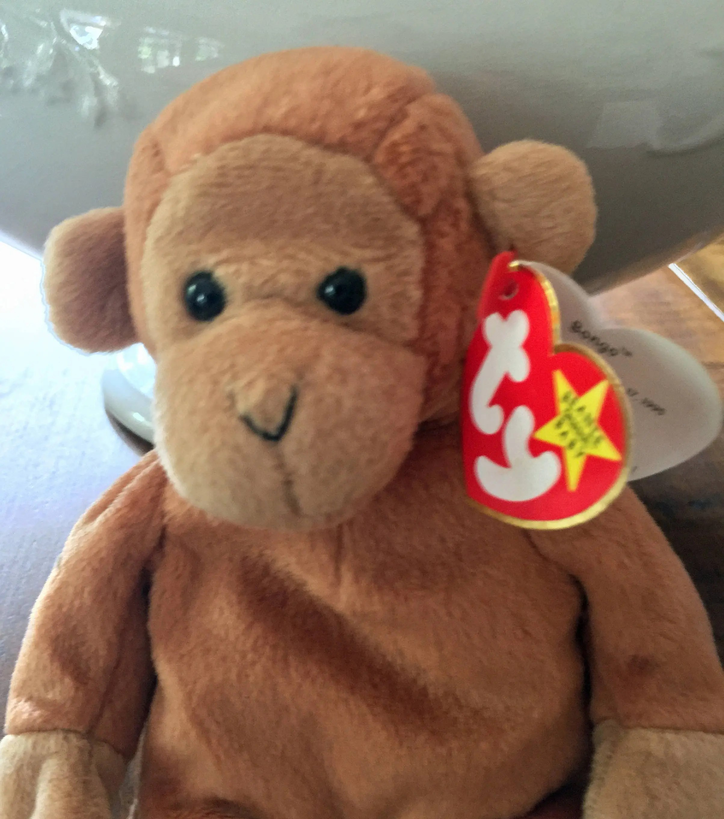 Babies R Us Irvine Ty Beanie Babies Bongo Monkey Beanie Baby Collectible Toys