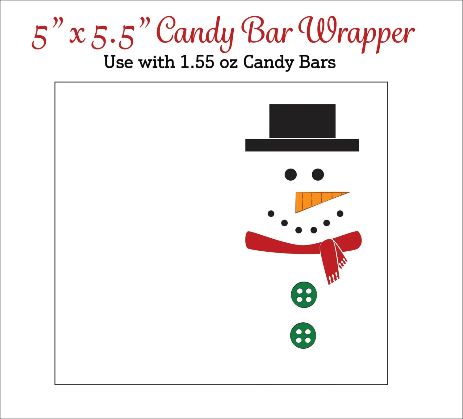 Snowman Candy Bar Wrappers Printable Snowmen Candy Wrappers Etsy