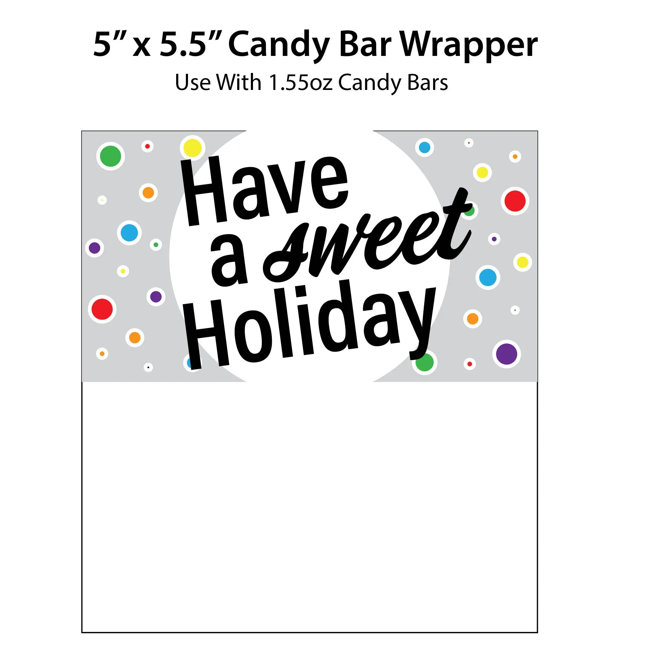 Have a Sweet Holiday Candy Bar Wrappers Printable Holiday Etsy