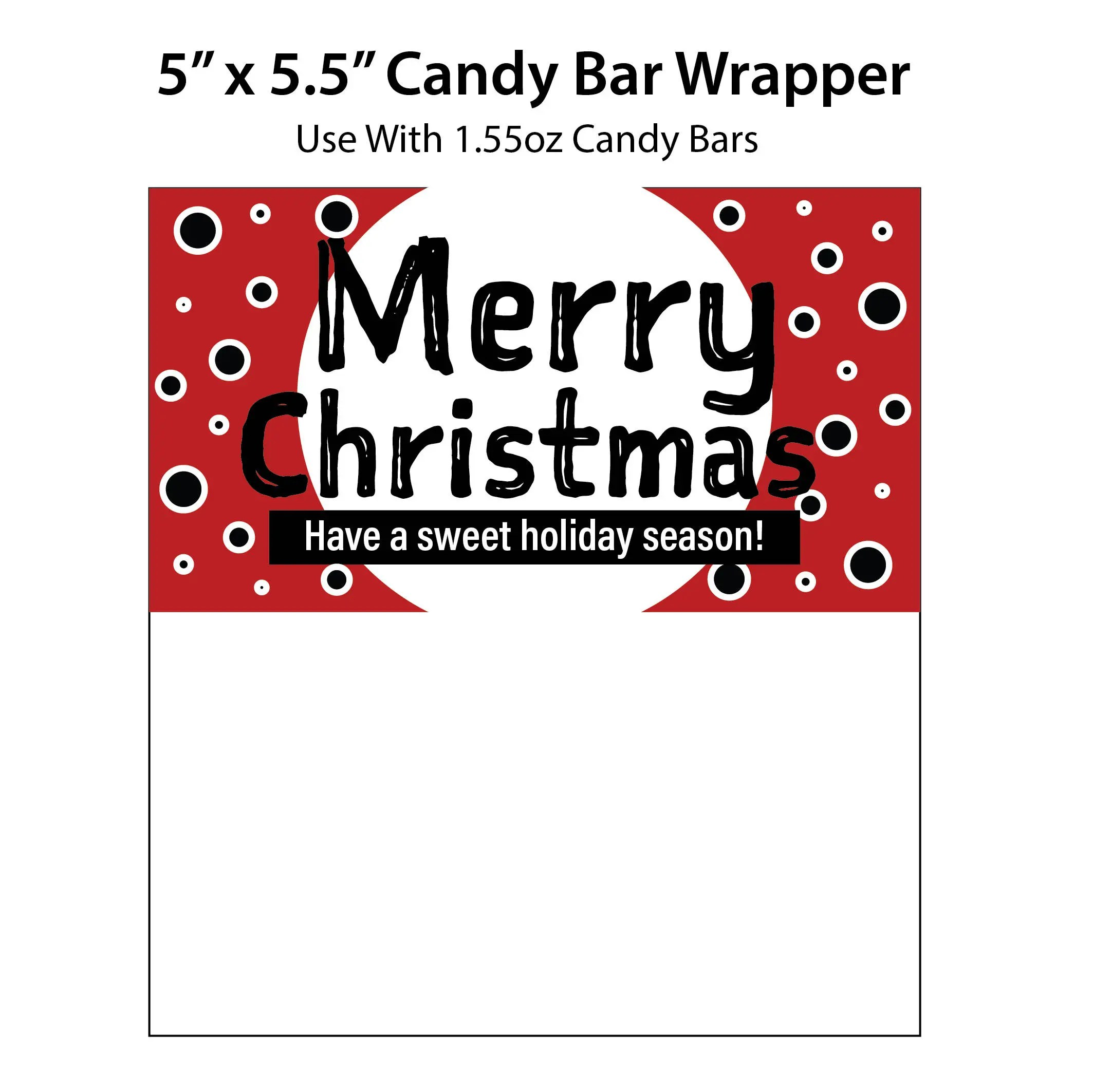 Merry Christmas Candy Bar Wrappers Printable Holiday Candy Etsy