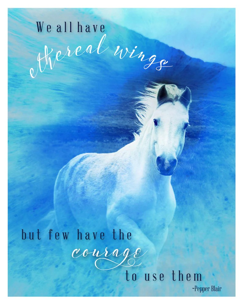 Affiche Cheval Photographie Fine Art Rêveur Photographie Wild Cheval Affiche 8 X 10 Cheval Connemara Irlande Inspirational Bleu Ethereal Angel Surreal Cheval