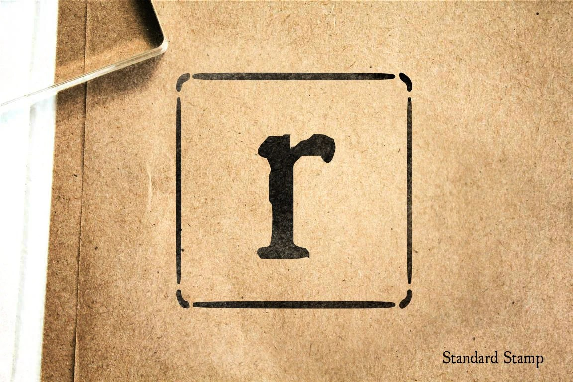 Letter R Lowercase Block Rubber Stamp 2 x 2 inches Etsy