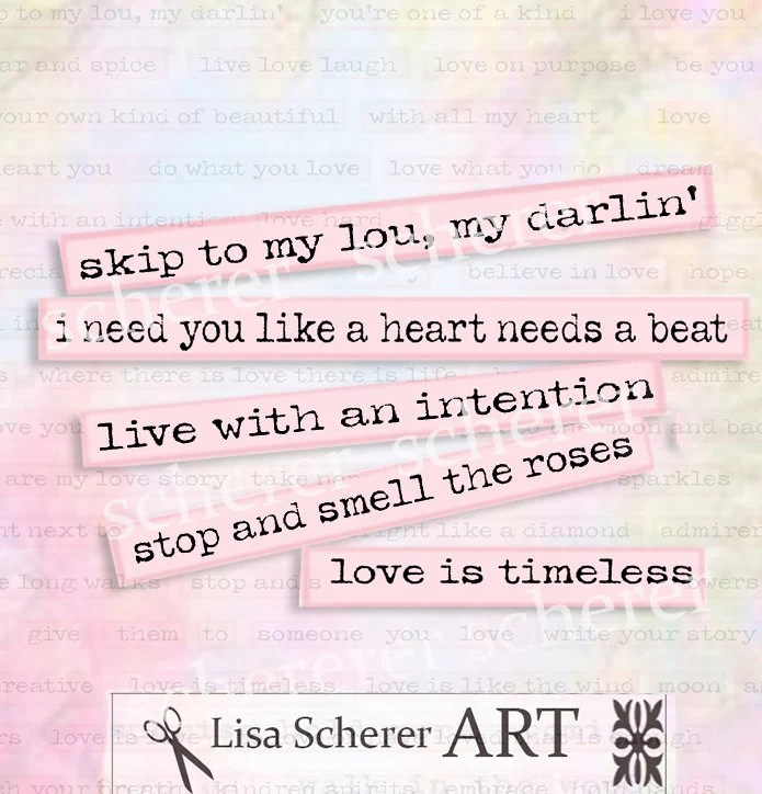 Printable Romantic Love Sayings Altered Art Valentine Love Etsy