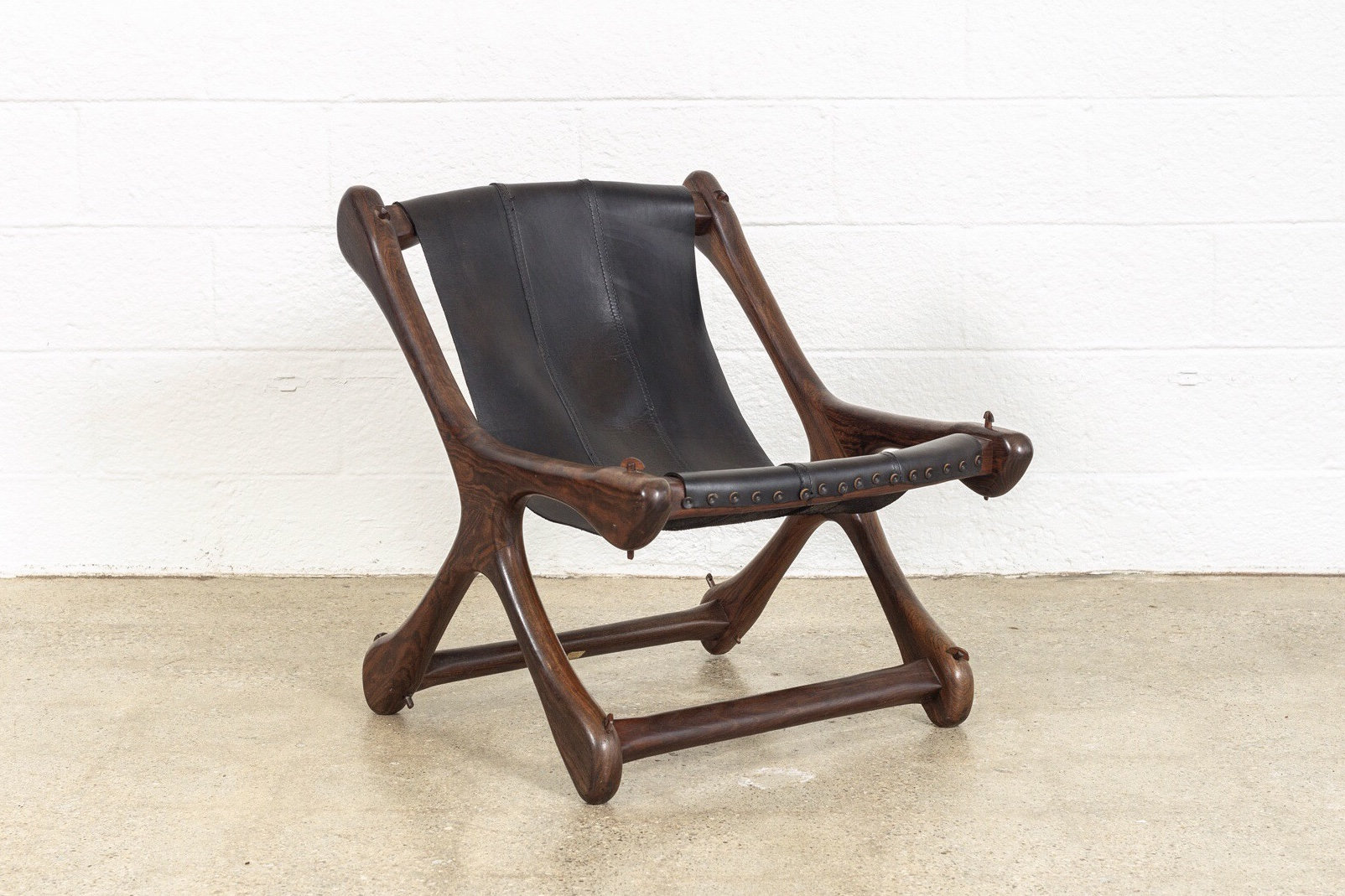 Mexican Rocking Chair Mid Century Chair Mid Century Mexican Modern Don Shoemaker For Senal Rosewood Black Leather Sling Chair Vintage