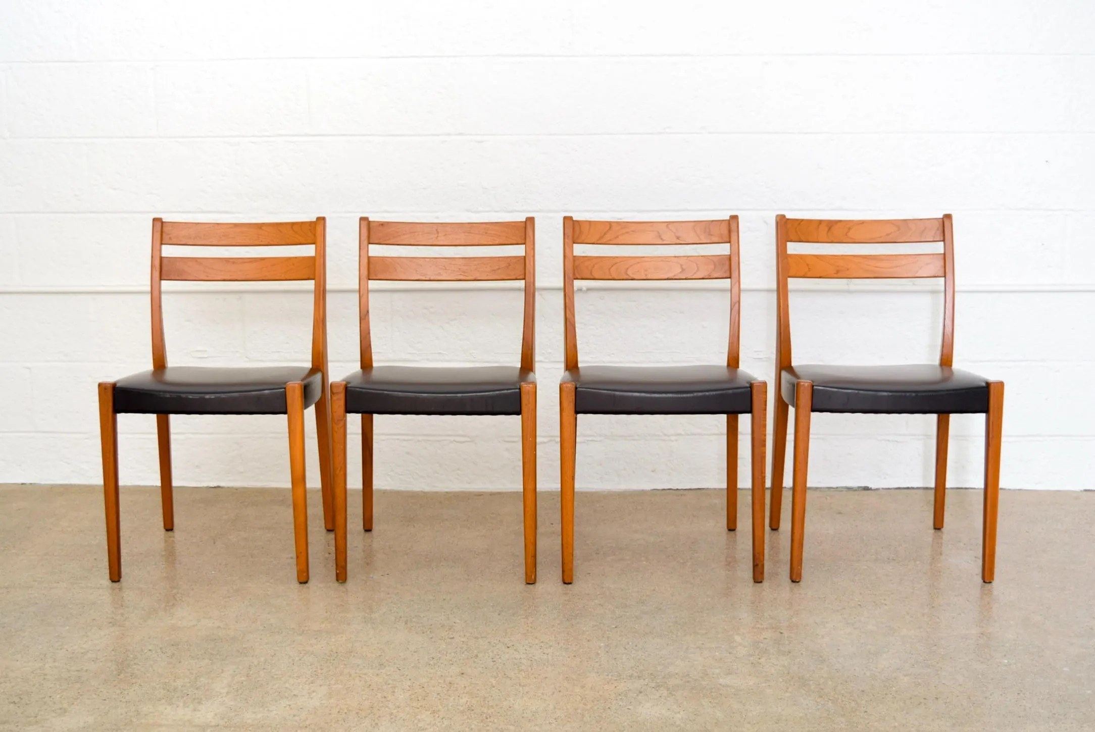Swedish Mid Century Furniture Mid Century Chairs Svegards Markaryd Teak Dining Chairs Made In Sweden Mid Century Scandinavian Modern Vintage Set Of 4