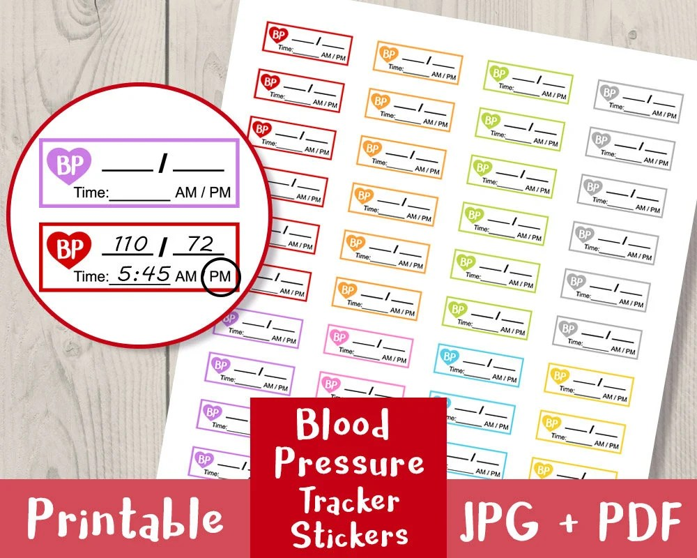Blood Pressure Tracker Stickers Bullet Journal Stickers Etsy