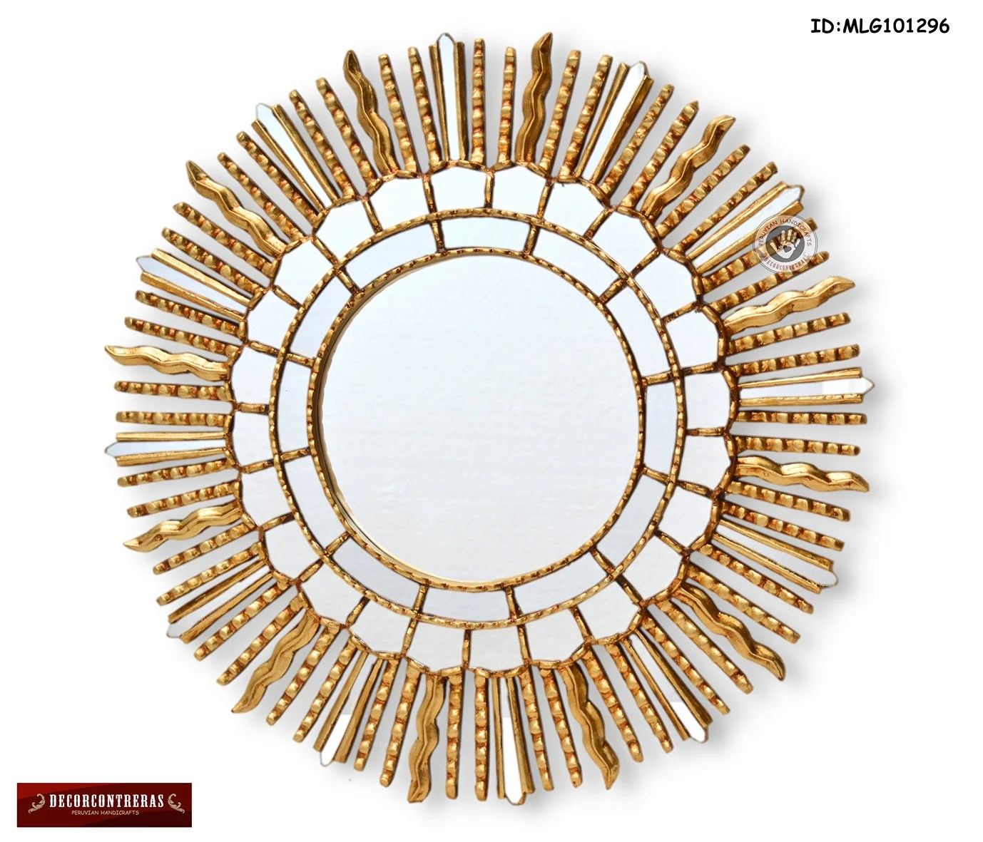 Sun Shaped Mirrors Peruvian Gold Wall Mirror Cuzco Style 23 6in Randiant Sun Decorative Wall Mirror Sunburst Mirrors Home Decor Ornate Mirrors Peru