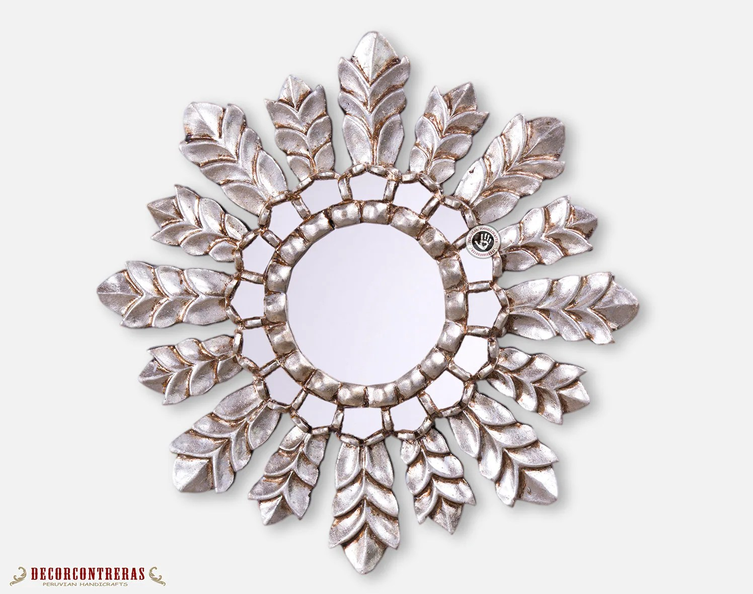 Sun Shaped Mirrors Silver Sunburst Mirrors 17 7in Decorative Mirror Cuzco Sun