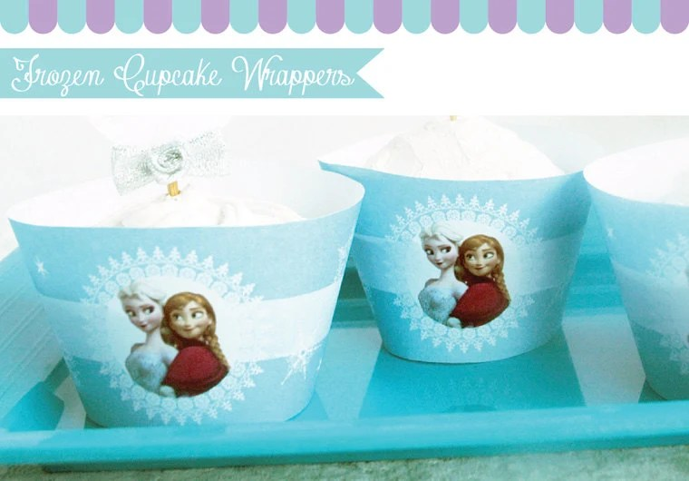 Frozen Cupcake Wrappers for Frozen Birthday Party Instant Download