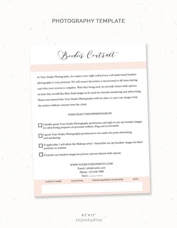 Boudoir photography consent forms Boudoir photography Etsy