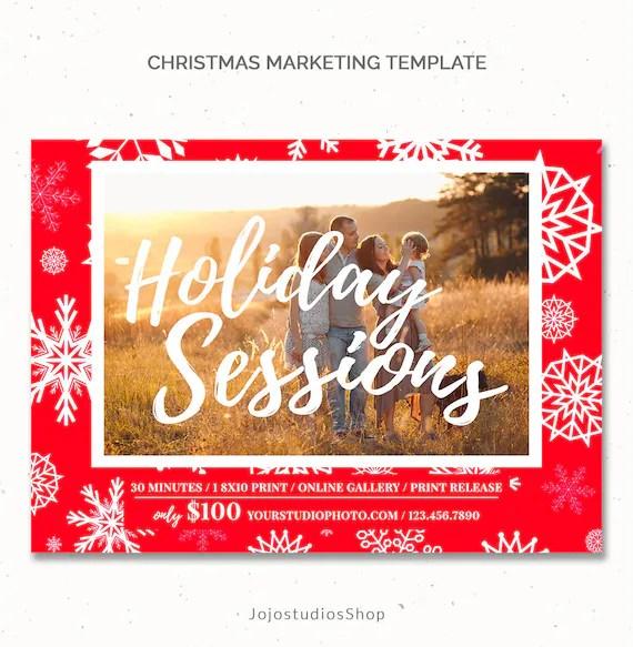Christmas Ad Template Photography Christmas Mini Session Etsy