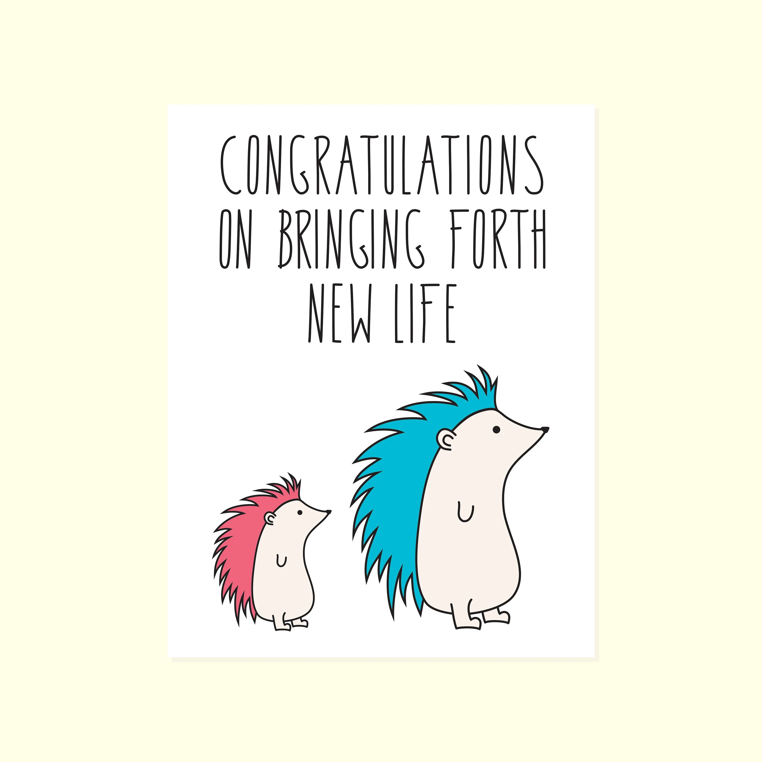 Funny And Cute Baby Card Baby Congratulations New Baby Baby Etsy