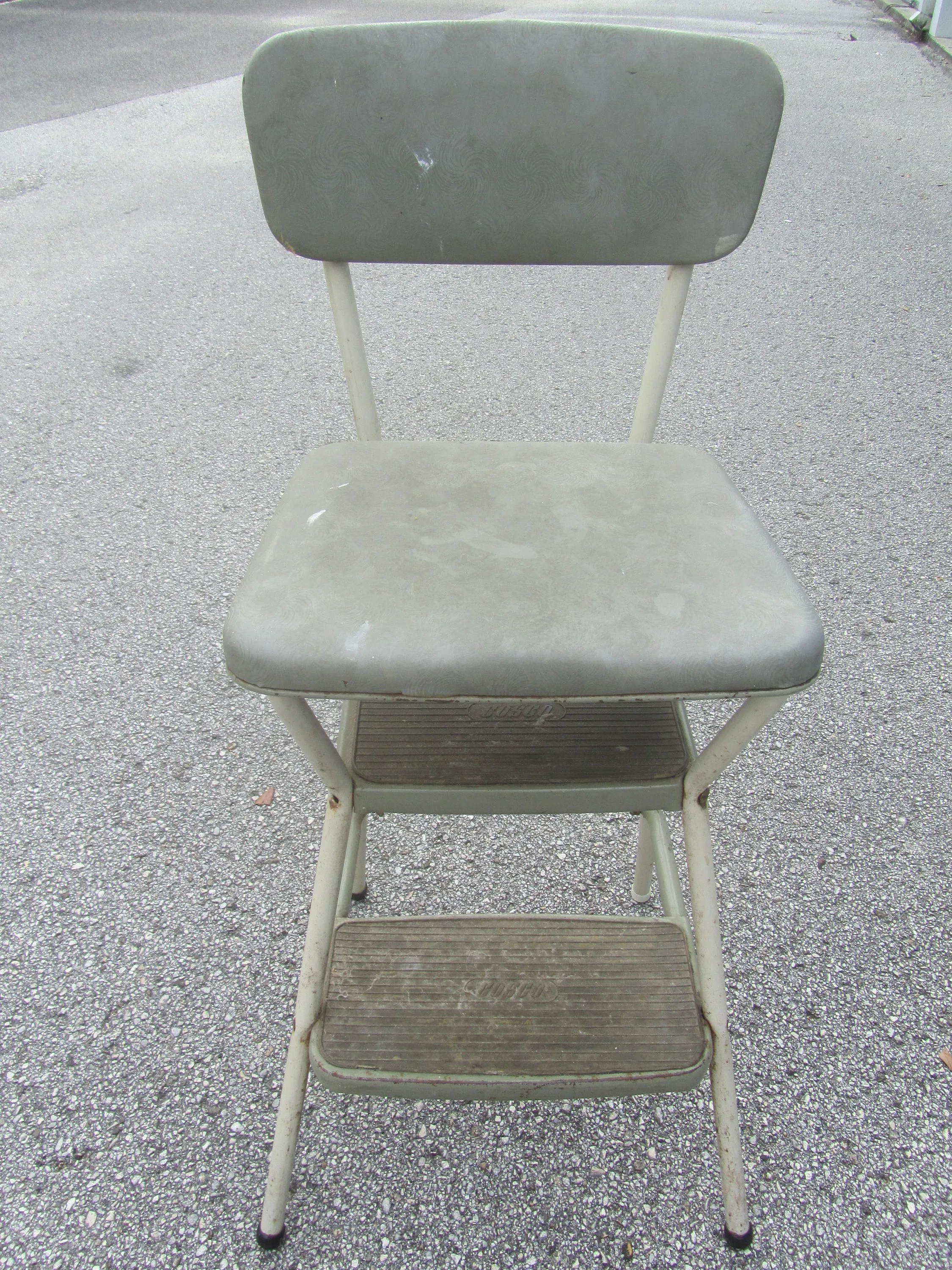 Metal Step Stool Vintage Cosco Metal Step Stool Step Chair Stool Step Ladder Folding Step Stool Kitchen Stool Photo Prop Gray Green Step Stool