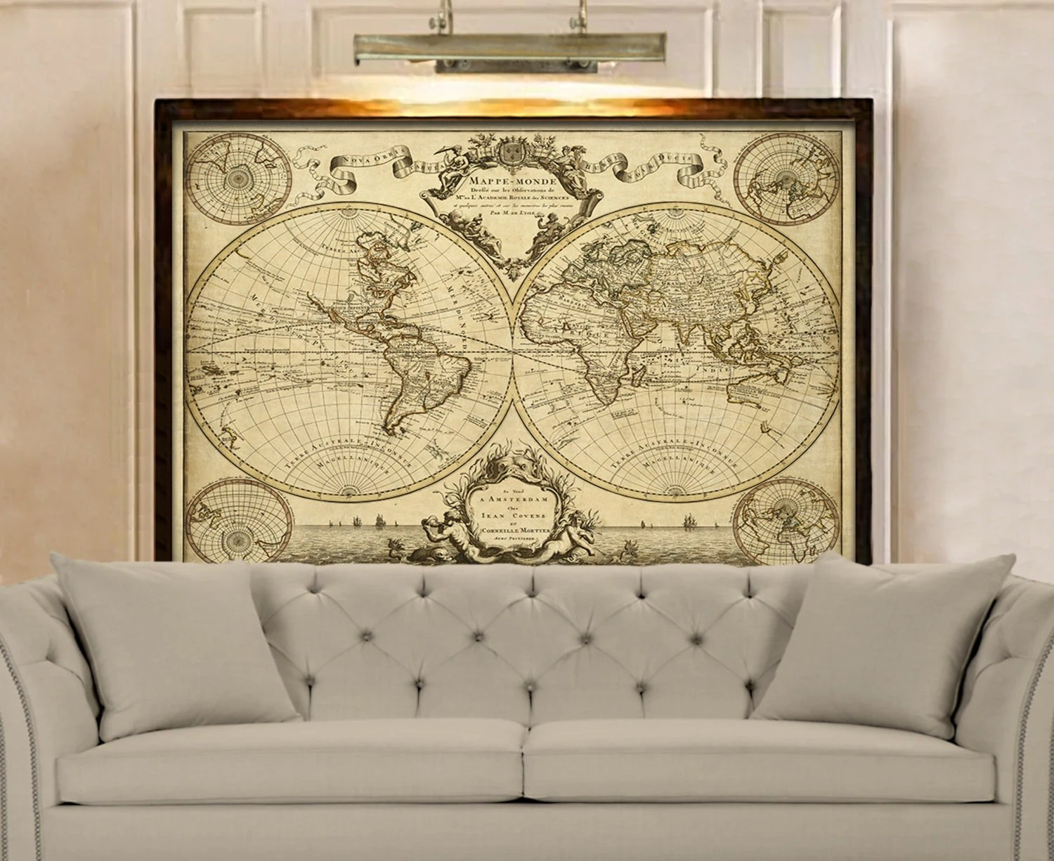 Sofa Bed Giant Malaysia Giant Historic World Map 1720 Old Antique Style World Map Fine Art
