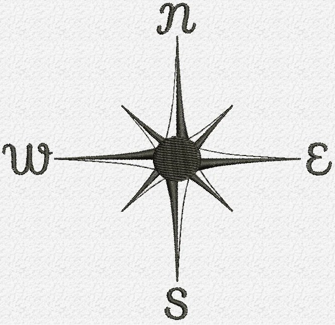 Old Compass embroidery Design Instant Download Etsy
