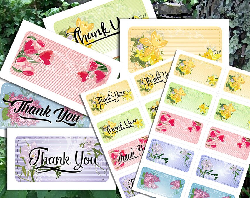 Personal Note Cards and Thank You Notes - Printable PDF and JPGs