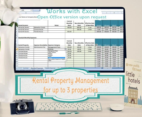 Rental Property Management Template Long Term Rentals Rental Etsy