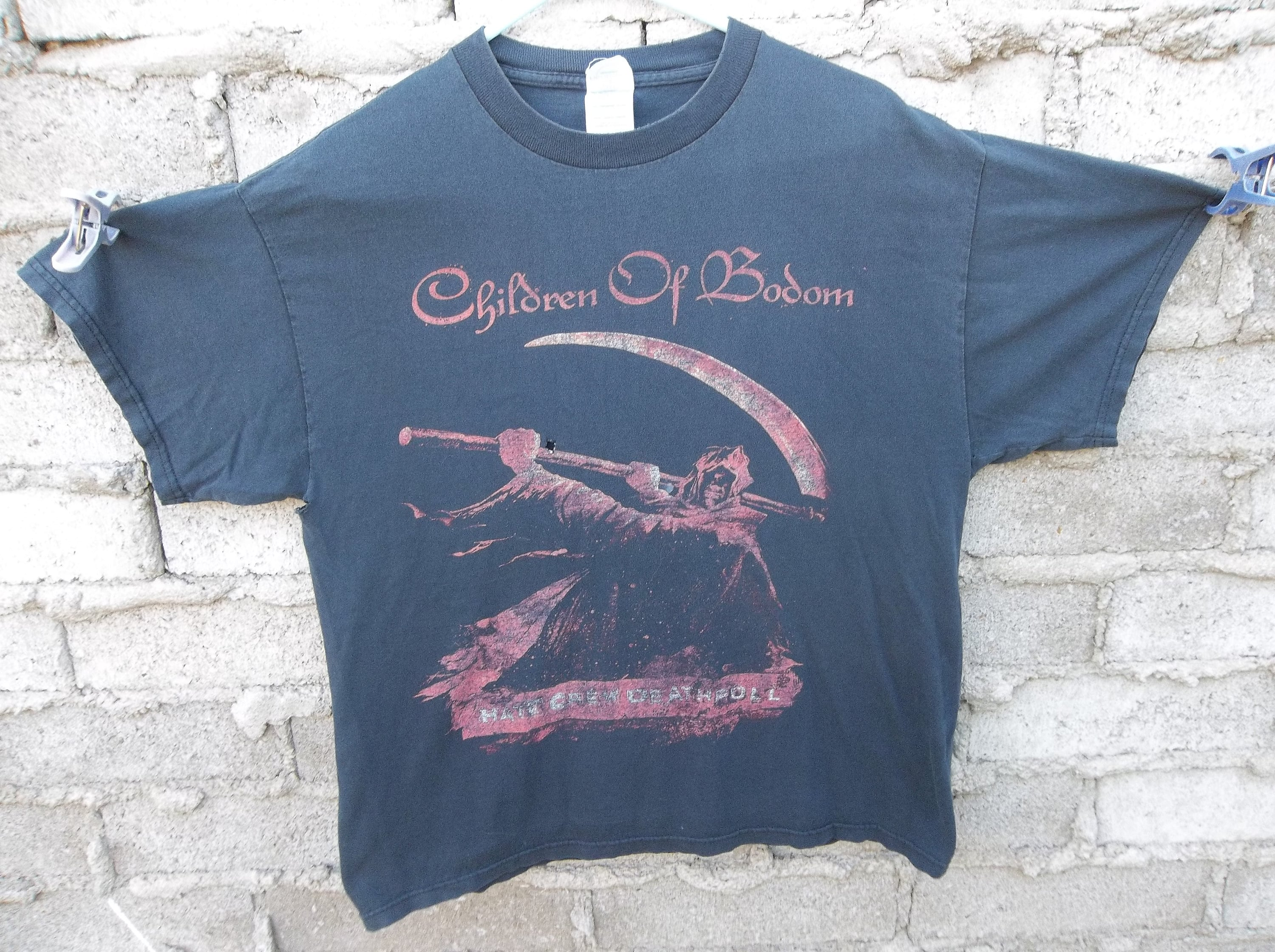 Bodum Tee Concert T Shirt Sodom Of Bodum Faded Black Destroyed Grunge Nu Metal Death Metal Large Distressed Faded American Tour