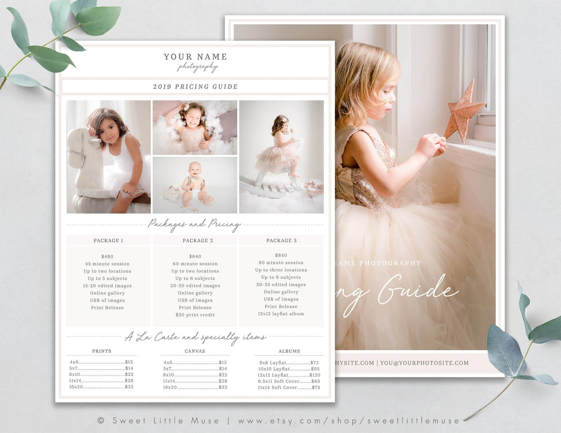 Photography Price List Template Photography Pricing Guide Etsy