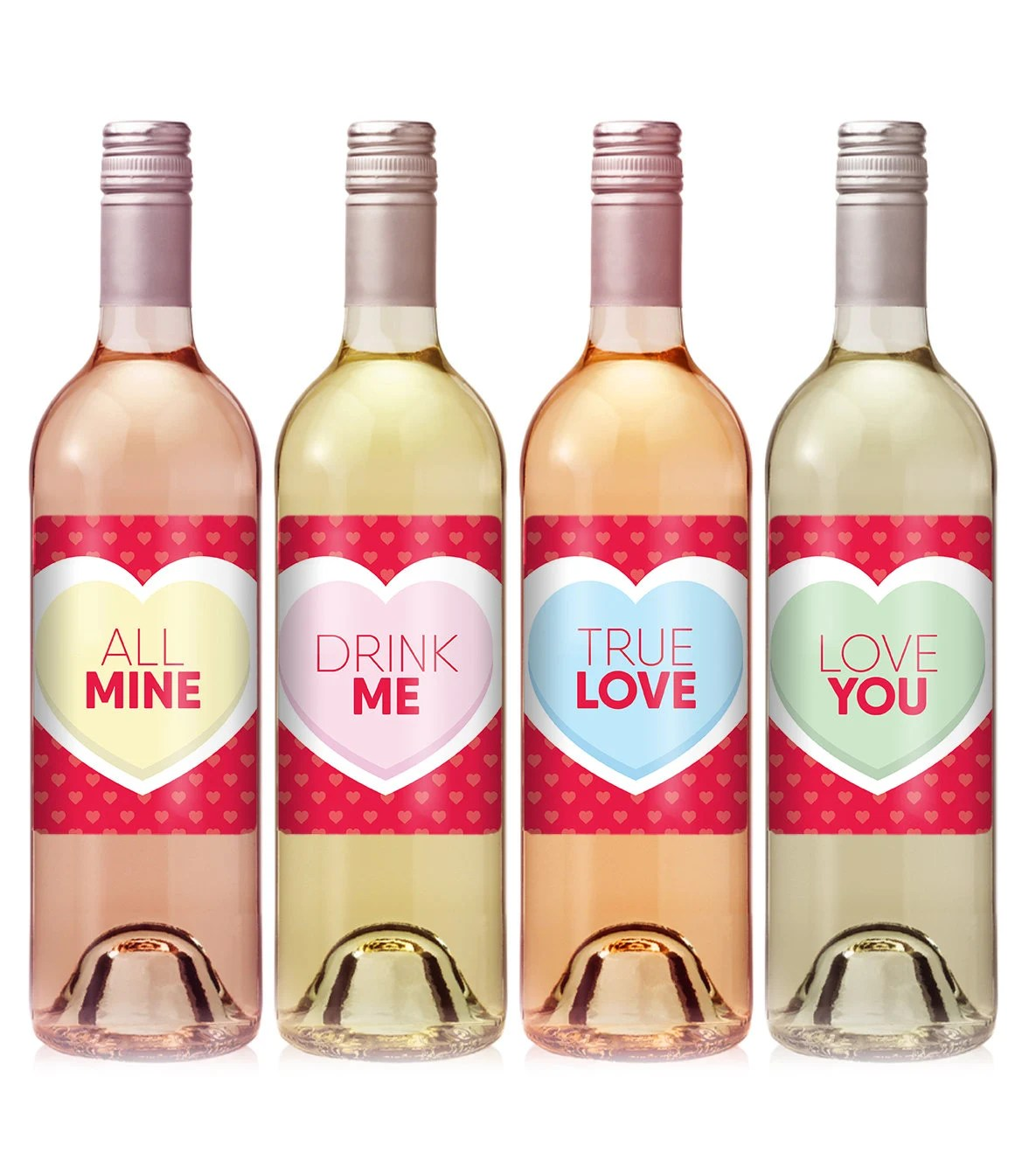 Valentine\u0027s Day Wine Label - Personalized Labels- Valentine\u0027s Day Labels -  Holiday Wine Label - Valentines Day Gift